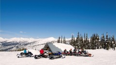 Snowmobiling - Allan Creek Cabin
