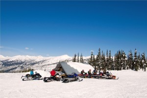 Snowmobiling - Allan Creek Cabin