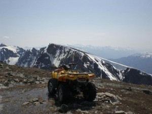 ATV on Canoe Mountain